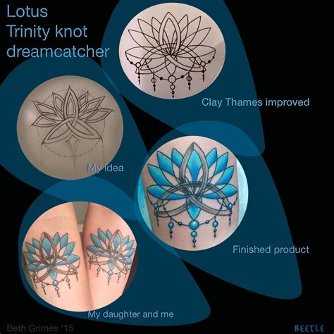 trinity knot tattoo designs lotus dreamcatcher knot and