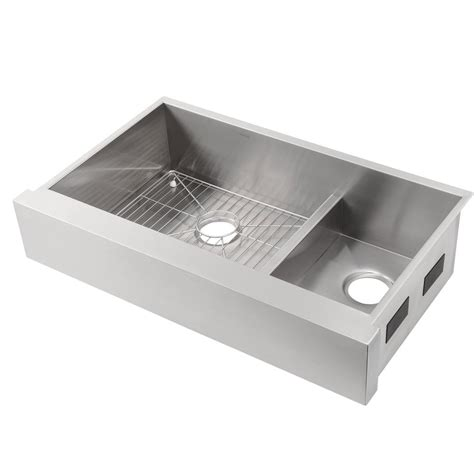 kohler stainless steel sink kohler vault smart divide undermount stainless steel 36 in