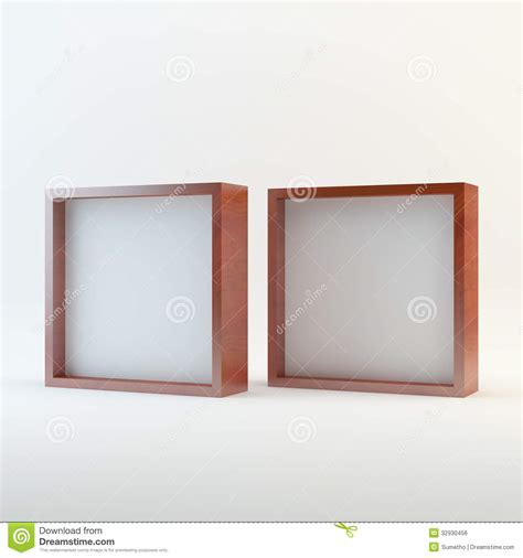Frame 1744 Box Resleting 2 two wood blank box display royalty free stock image image 32930456