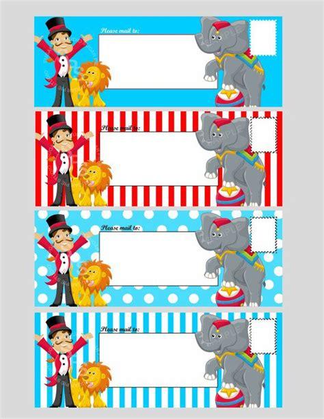 circus template free printable digital file circus ticket envelope template