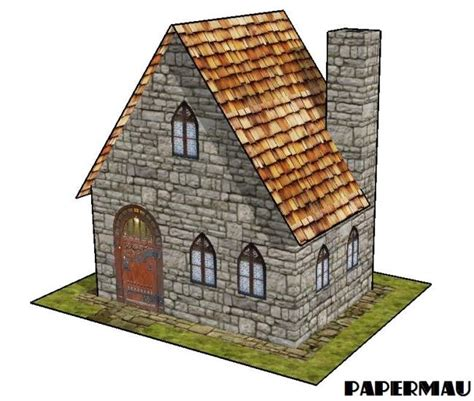 A Paper House - papermau a simple house paper model by papermau