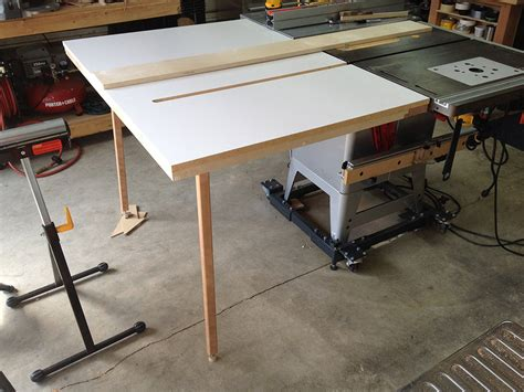 woodworking forum just finished new outfeed ts table woodworking talk