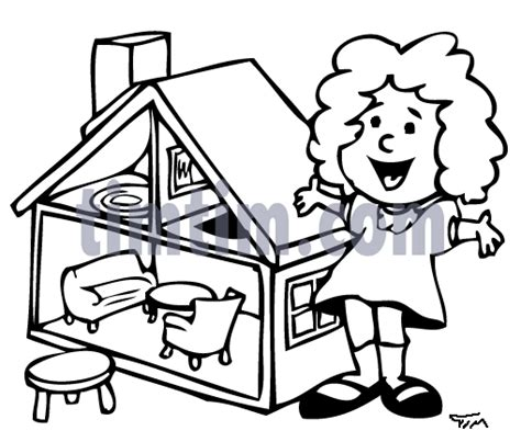cartoon doll house coloring pages doll house alltoys for
