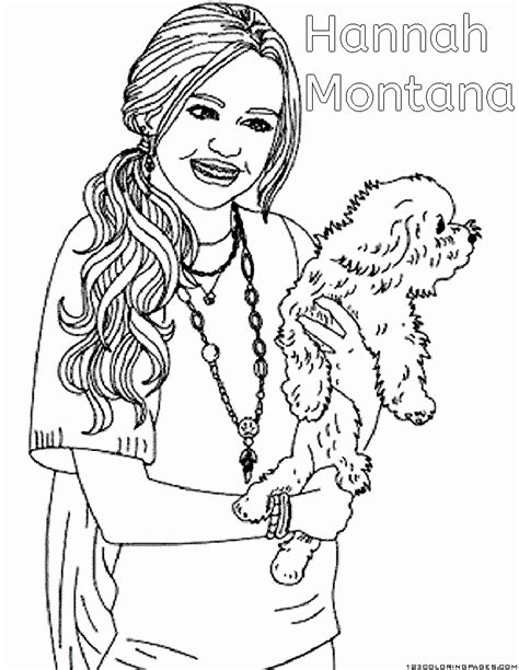 coloring pages hannah montana print blog images