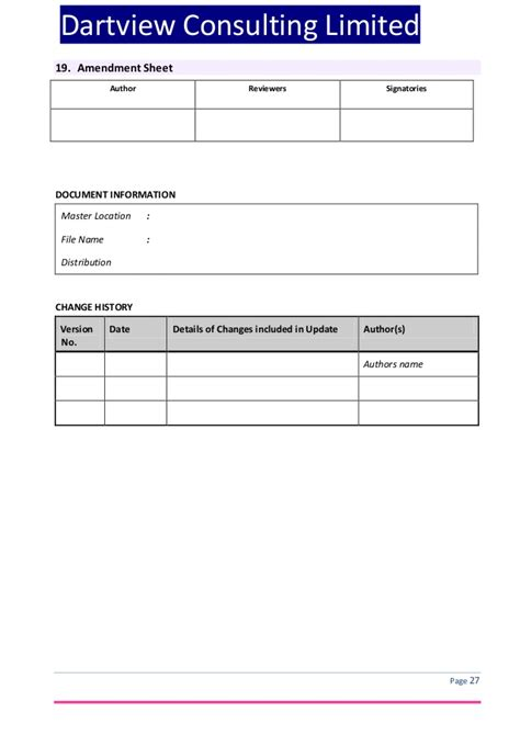 Itil Service Level Agreement Template Document Circulation Template