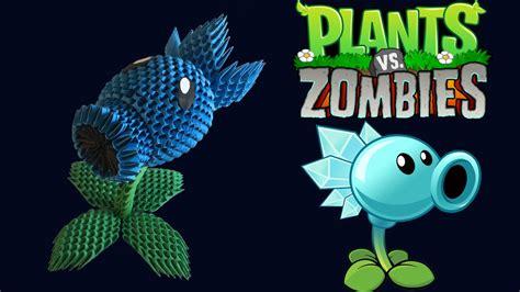 tutorial gamecih plant vs zombie 3d origami snow pea shooter tutorial from plants vs