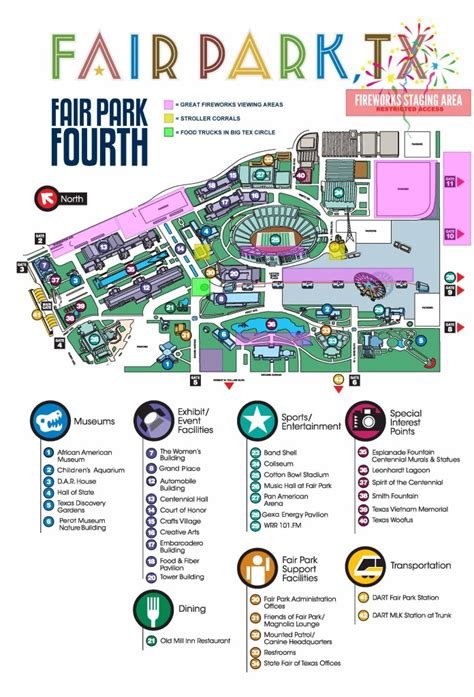 state fair of texas parking map fair park fourth schedule and information dallas city news