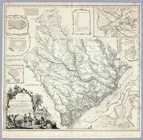 Greenville County Sc Records 1773 Sc Map Georgetown Greenville County South Carolina History Surnames Ebay