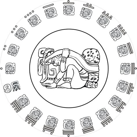 free coloring pages of mayan calendar