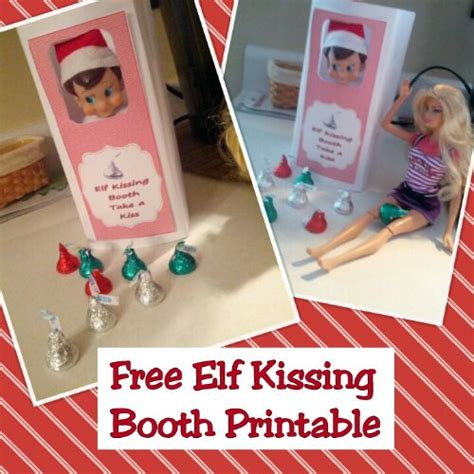 printable elf on the shelf kissing booth template elf kisses free printable search results calendar 2015