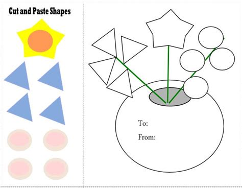 free printable preschool cut and paste worksheets cut and paste shapes mother s day learning doodles