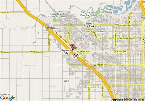 california map highway 99 map of inn express hotel suites fresno hwy 99