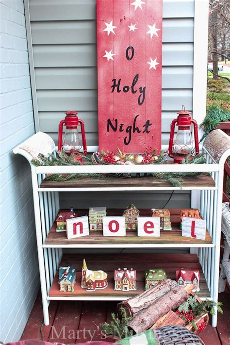 inexpensive deck decorating ideas  christmas martys