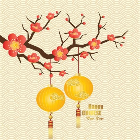 chinese new year background vector free download