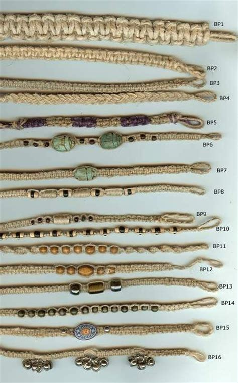 Hemp String Patterns - hemp ankelt bracelet patterns just plain