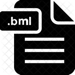 bml file icon  glyph style   svg png eps