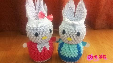 3d origami rabbit tutorial tutorial rabbit couple 3d origami hướng dẫn xếp cặp thỏ