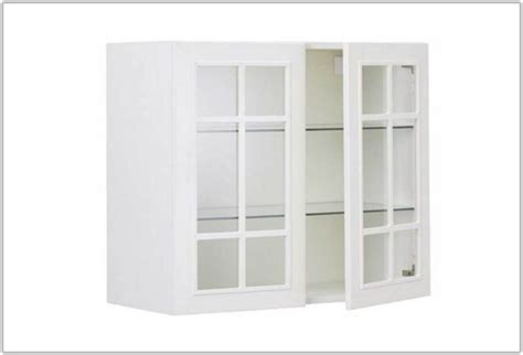 White Armoire With Glass Doors by White Glass Front Cabinet Cabinet Home Decorating