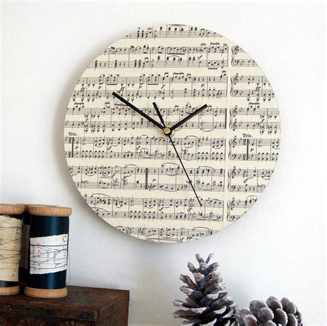 Handmade Songs By - handmade circular personalised clock by re made