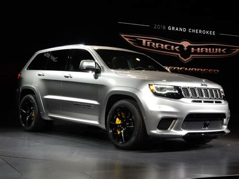 gray jeep grand cherokee 2017 2018 jeep grand cherokee trackhawk wallpapers hd