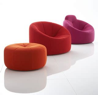 Living Room Chaises Pumpkin By Pierre Paulin Ligne Roset Eclectic Living