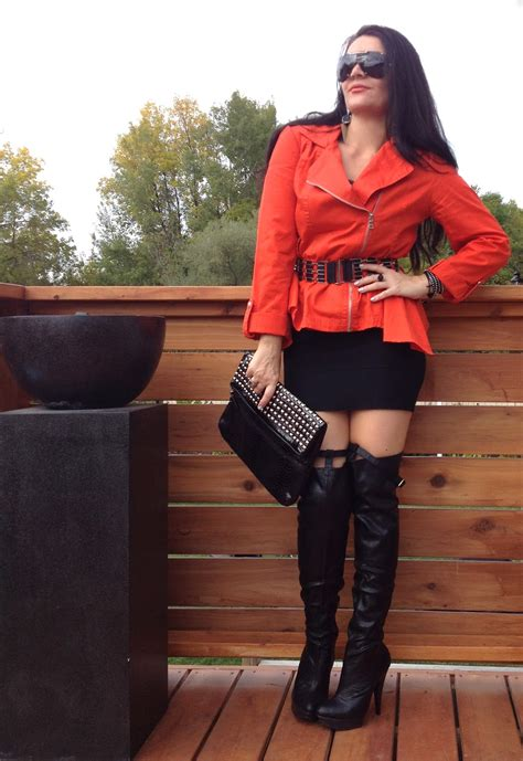 glamorchic how to wear thigh high boots from day to