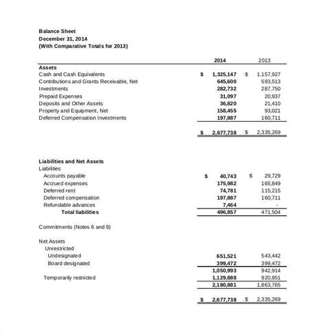 financial statement template 27 free pdf excel word