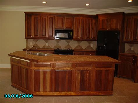 fantastic unfinished wooden mahogany cabinets with marble