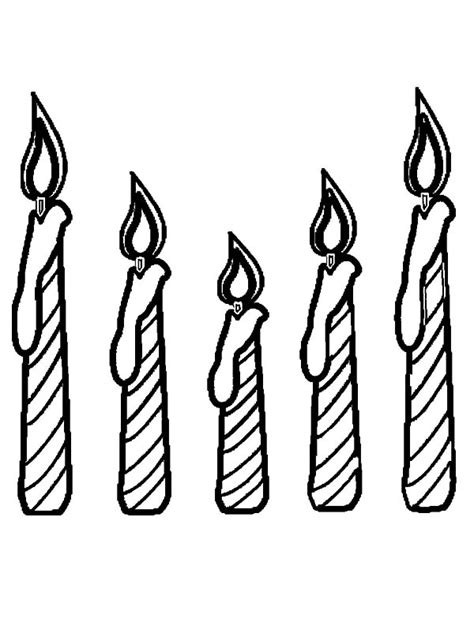 birthday candle cake coloring pages best place to color