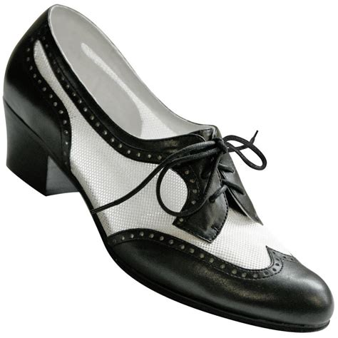 swing shoe aris allen women s black and white 1950s mesh wingtip