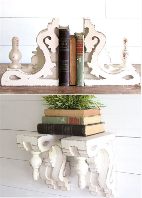 fill your shelves with shabby chic bookends antique