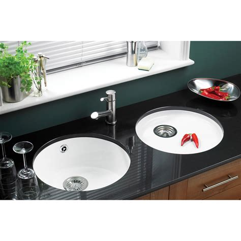 White Porcelain Kitchen Sinks Undermount Astracast Lincoln White Ceramic Undermount Kitchen Sink Drainer Waste Ebay