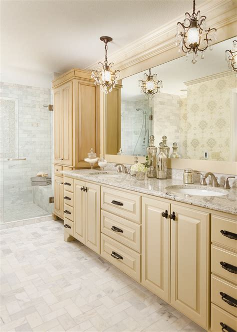 beige bathroom vanity cool mini chandelier look minneapolis traditional bathroom