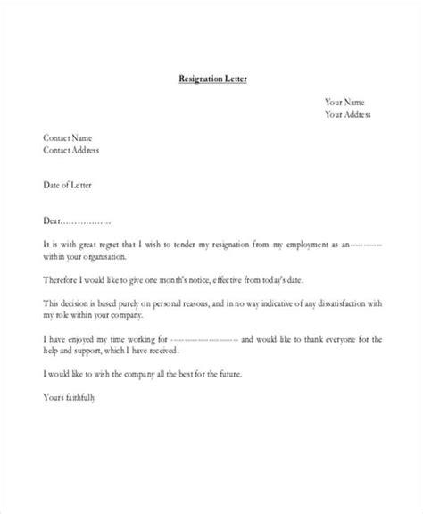 Resignation Letter Personal Health Reasons 40 resignation letter exle free premium templates