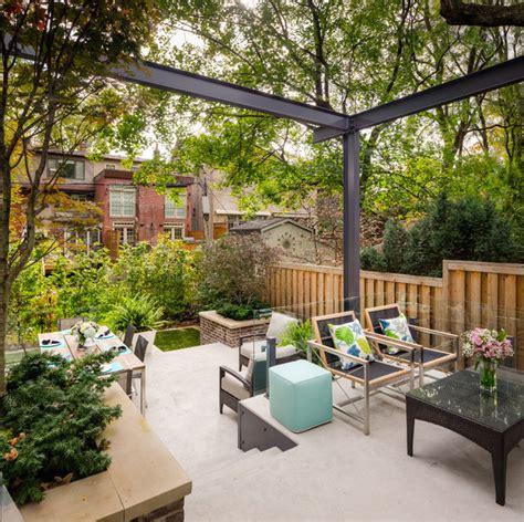 Tiered Backyard Landscaping Ideas Tiered Contemporary Garden Contemporary Patio Toronto By Dayspring Landscape Design