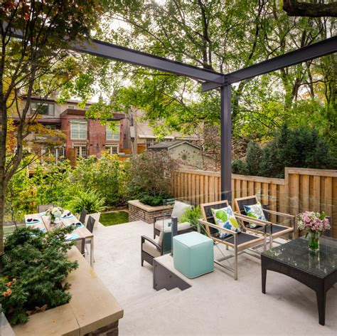 Tiered Contemporary Urban Garden   Contemporary   Patio