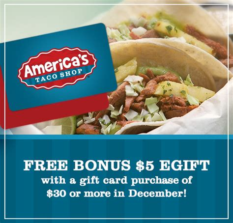 Taco Shop Gift Cards - americas taco shop gift cards