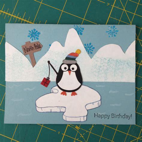 Winter Birthday Cards Winter Happy Birthday Card Sting Card Making