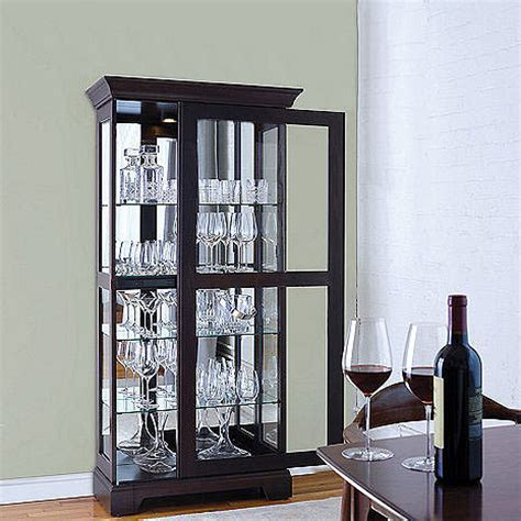 curio cabinet with sliding glass door glassware display curio cabinet with sliding door wine