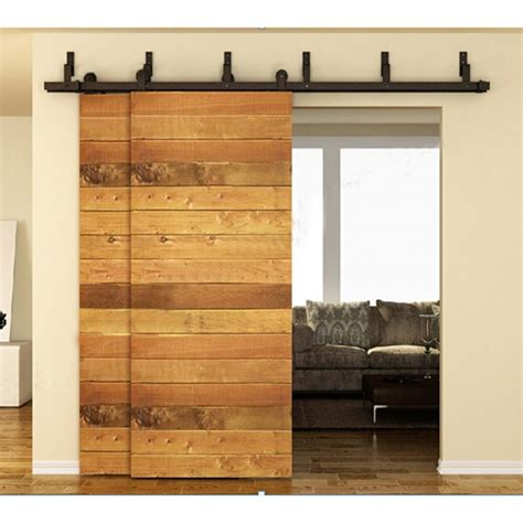 Bypass Barn Door Track Winsoon 5 16ft Bypass Sliding Barn Door Hardware Track Kit Modern Basic