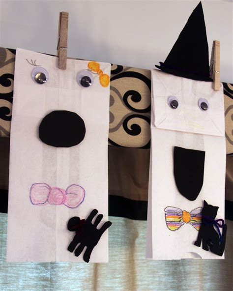 Paper Bag Ghost Craft - paper bag ghosts craft a spotted pony