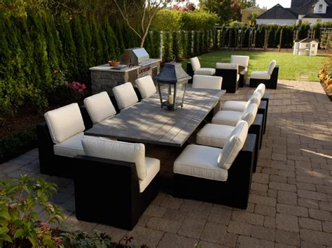 outdoor patio seating sets furnishing your outdoor room hgtv