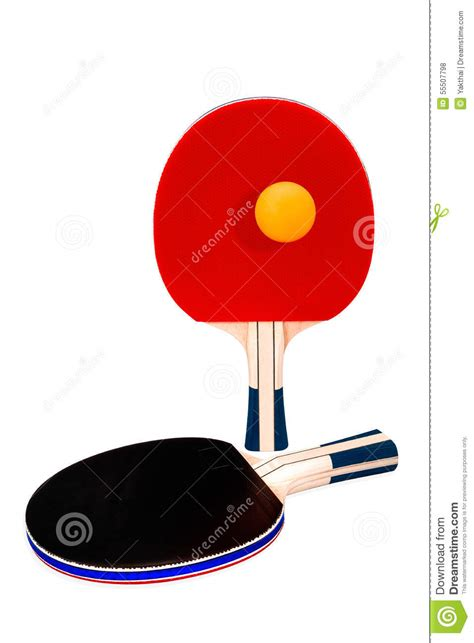 ping pong rackets and ball stock photography