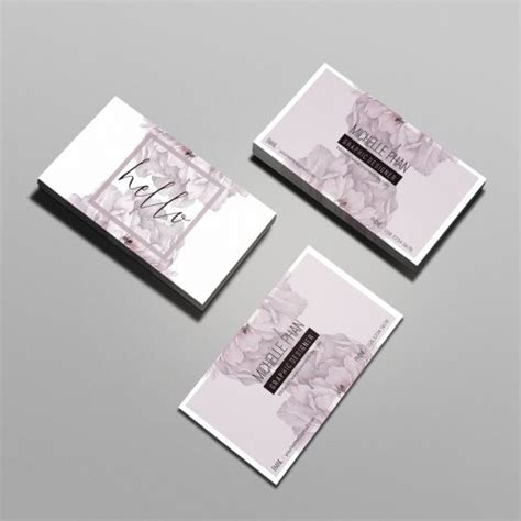 floral business card template professional business cards inspiration cardfaves