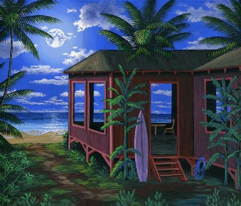 Hawaii Cabins by Painter Of The Pacific Northwest And Hawaii
