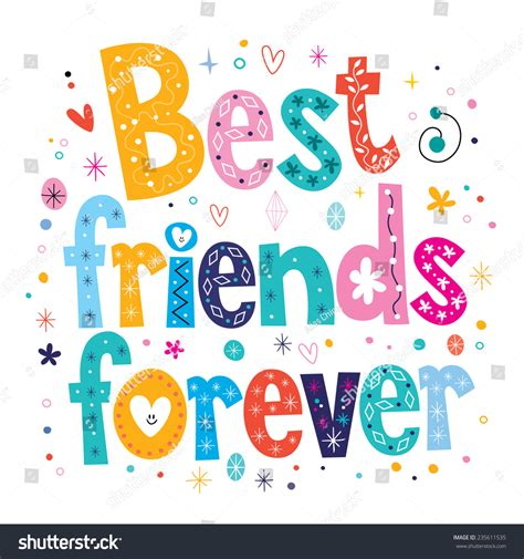 imagenes que digan best friends forever best friends forever vectores en stock 235611535