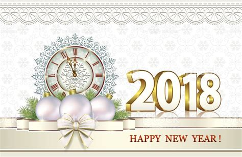 merry and happy new year testo merry and happy new year 2018 stock vector