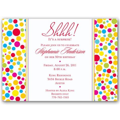 birthday invitations colorful dots birthday invitations paperstyle