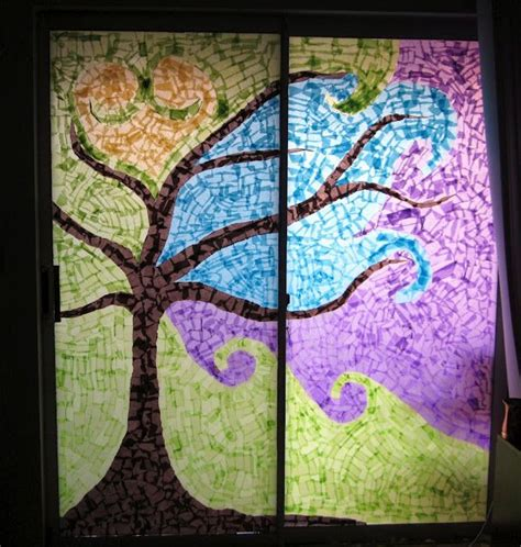 Paper Stained Glass Window Craft - 1000 images about stained glass diy on stains