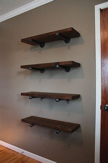 galvanized pipe shelving and pipes on